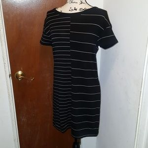 Lou & grey stripped dress nwot size s supersoft